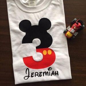 Other - I'm Three Mickey Birthday Tee